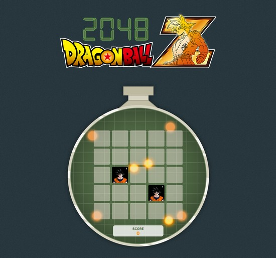 Homepage du site 2048 DBZ