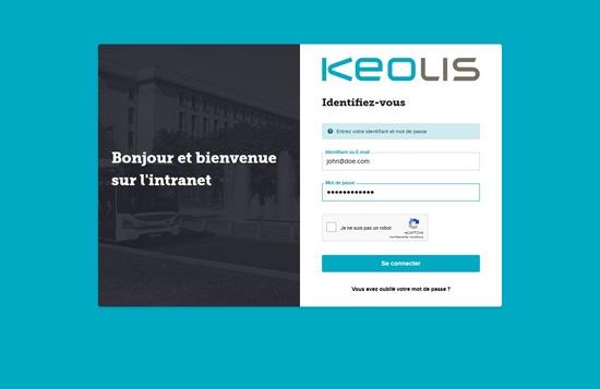 Homepage du site Keolis Versailles