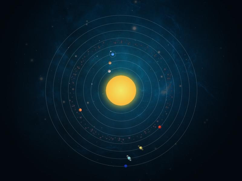 Homepage du site Système solaire CSS3